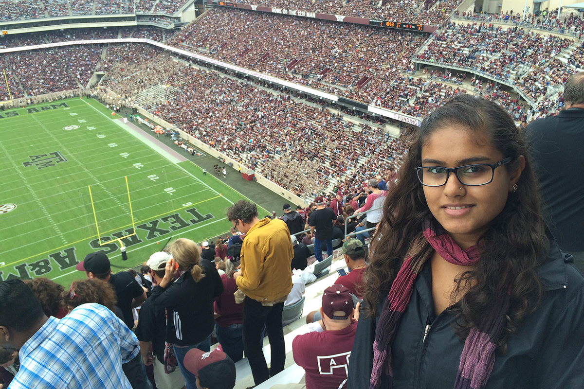 Student Program Grantee Elif Tuğba Apparatuver at A Baseball Game